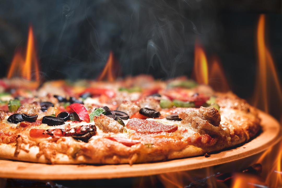 Pizza op open vuur